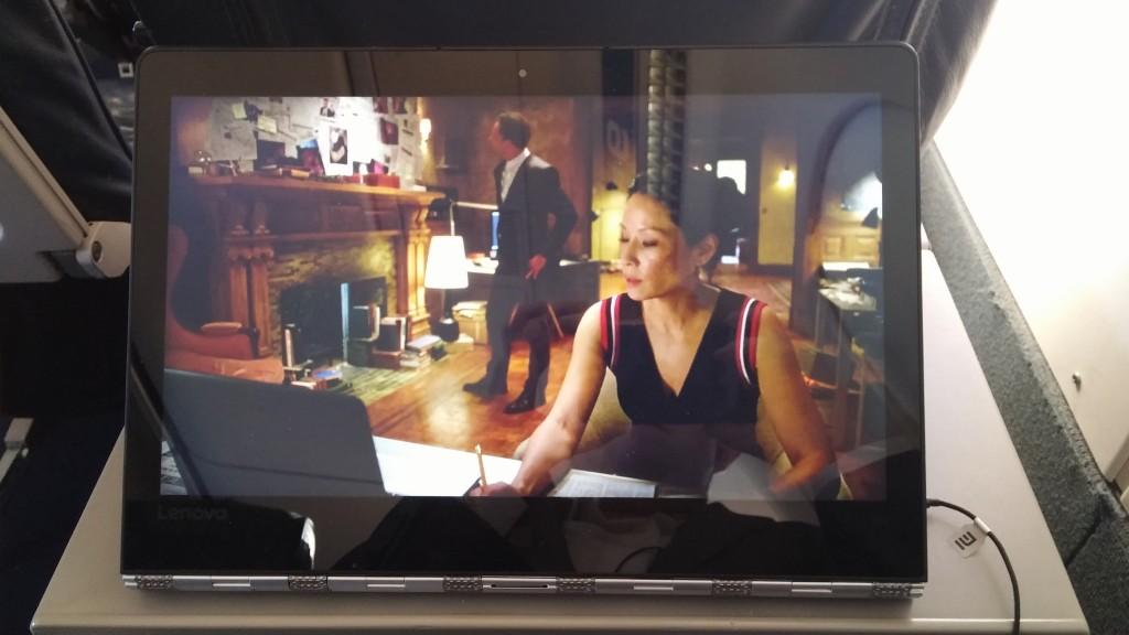Watching Sherlock on the Lenovo Yoga 900 on a plane